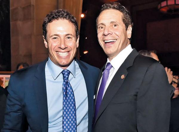 앤드루 쿠오모(오른쪽) 미국 뉴욕 주지사와 크리스 쿠오모 CNN 앵커 형제./앤드루 쿠오모 페이스북