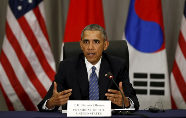 2016년 버락 오바마 당시 미국 대통령이 기자회견하는 모습. /연합뉴스