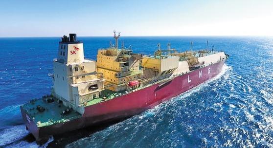 미국에서 셰일가스를 직접 수입하는 SK E&S의 LNG 수송선./SK E&S 제공