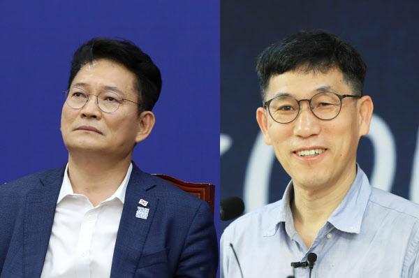 송영길 더불어민주당 의원과 진중권 전 동양대 교수. /뉴시스, 연합뉴스