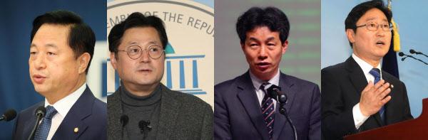 더불어민주당 김두관,홍익표,윤건영,박범계 의원. /조선DB.