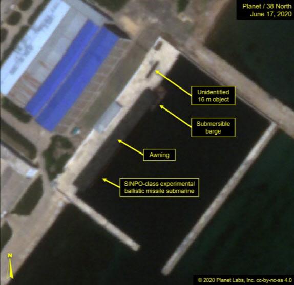 지난 17일 촬영된 신포조선소 위성사진/38노스 홈페이지