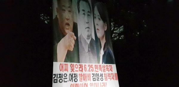 박상학 자유북한운동연합 대표가 '지난 22일 오후 11∼12시 사이 파주시 월롱면 덕은리에서 대북전단을 보냈다'면서 공개한 관련 사진. /자유북한운동연합