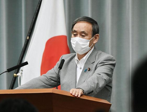 스가 요시히데 일본 관방장관. /연합뉴스