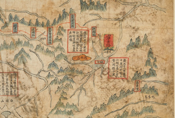 지도를 확대한 사진. 당시 유물을 넣어두던 경복궁 건물에 북한군인들이 드나들면서 박물관의 소장품들이 많은 피해를 입었다. /국립중앙박물관 제공