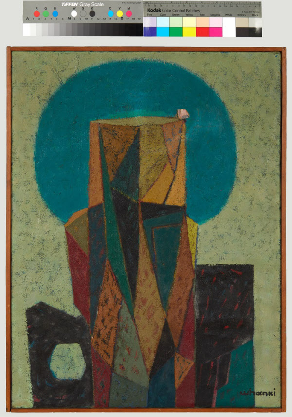 1953년 국립박물관이 피란지 부산에서 개최한 제1회 현대미술작가 초대전에 출품된 김환기의 '돌'. /국립중앙박물관 제공
