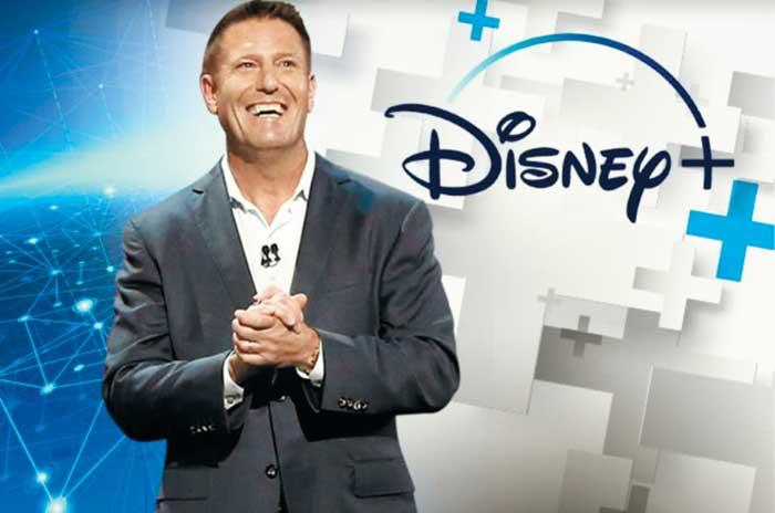 틱톡 신임 CEO 케빈 메이어의 디즈니 재임 시절 모습.