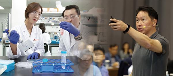 SK바이오팜이 개발한 혁신 신약 두 종이 미국 식품의약국(FDA) 승인을 받은 배경에는 최태원 SK그룹 회장의 든든한 지지가 있었다. / SK