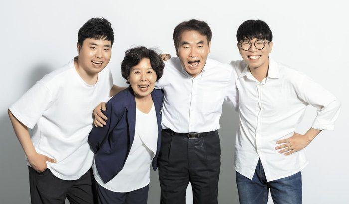 왼쪽부터 첫째 아들 동주, 어머니 최원숙, 아버지 노태권, 둘째 아들 희주. 김종연 영상미디어 기자