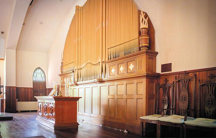 1918년 김란사가 미국 강연 때 한인 모금을 통해 기부한 서울 정동제일교회 파이프오르간. 원래 악기가 6·25 때 파괴되고 이후 복원한 악기다.