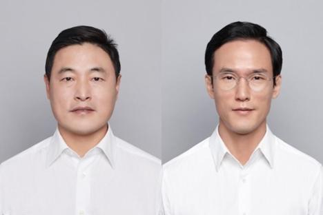 (왼쪽부터)조현식 한국타이어월드와이드 총괄부회장, 조현범 한국타이어 사장./한국타이어