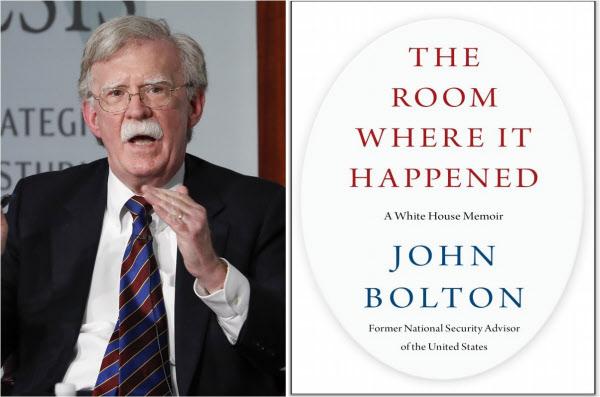 존 볼턴 전 미국 국가안보보좌관과 그의 회고록 '그 일이 벌어진 방'/조선일보 DB