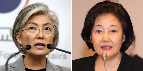 강경화(왼쪽)와 박영선. /조선일보DB