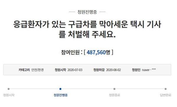 /청와대 국민청원게시판 캡처