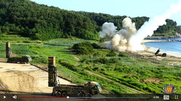 미 32방공미사일사령부가 최근 공개한 영상에 담긴 한미 통합 탄도미사일 훈련. 2017년에 북한에 대한 경고성으로 실시됐었다. /미 32방공미사일사령부