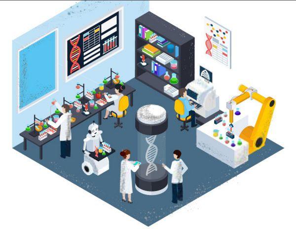 영국 왕립화학회는 코로나 대유행으로 빈 실험실에 로봇과 인공지능을 도입해 과학자들이 세계적 과제를 해결하는 연구를 지속해야 한다고 제안했다./영 왕립화학회