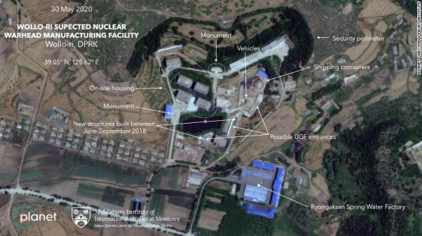 북한 평양 인근 원로리의 핵개발 의심시설을 촬영한 위성 사진/플래닛랩스