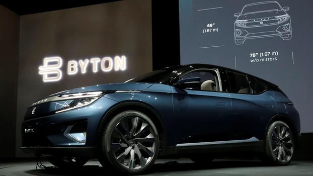 중국 전기차 스타트업 바이톤이 지난 1월 미국 라스베이거스에서 열린 CES(전자전시회)에서 전기차 엠바이트를 전시하고 있다. /라스베이거스로이터연합뉴스