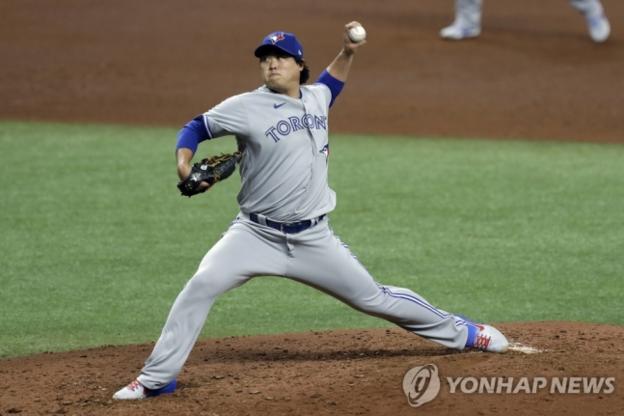 류현진, 토론토 데뷔전서 승리 불발… 개막전서 4⅔이닝 3실점 ...