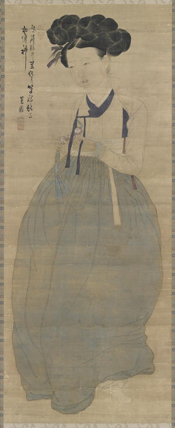 보물 제1973호 신윤복 '미인도'. /국립중앙박물관