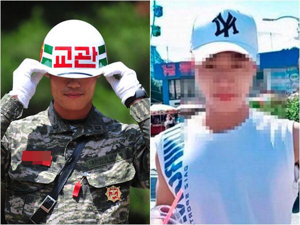 해병대 교관과 최근 월북한 탈북자 김모(24)씨./해병대 공식 블로그, 연합뉴스