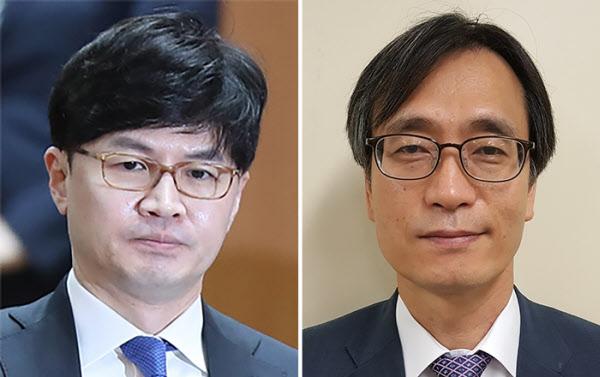 한동훈 검사장(왼쪽)과 정진웅 서울중앙지검 부장검사./연합뉴스