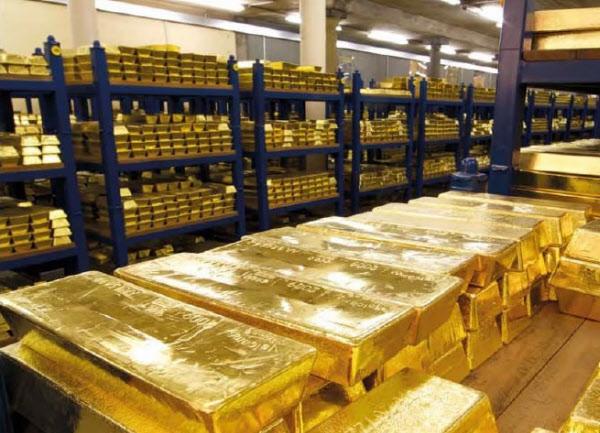 영국 런던 영란은행 지하창고에 보관돼있는 금괴들. 한국은행도 외환보유액 중 일부로 금을 사서 여기에 금괴를 보관하고 있다./영란은행 홈페이지