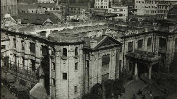 1950년 6.25 전쟁으로 피격당한 한국은행 본관 모습./한국은행