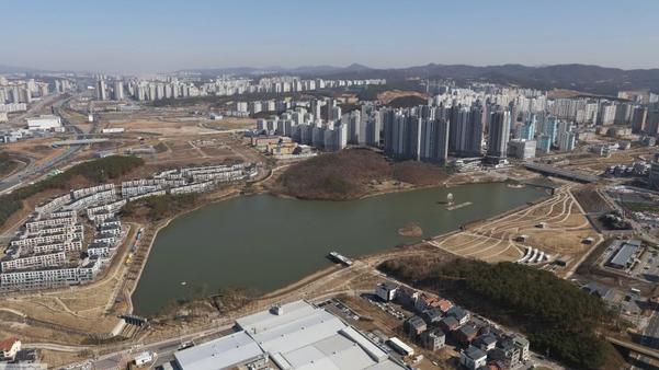 경기 화성시 동탄호수공원 전경. /연합뉴스