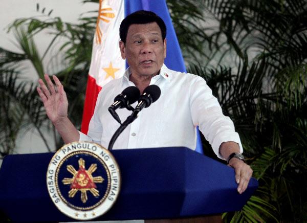 로드리고 두테르테 필리핀 대통령./로이터 연합뉴스