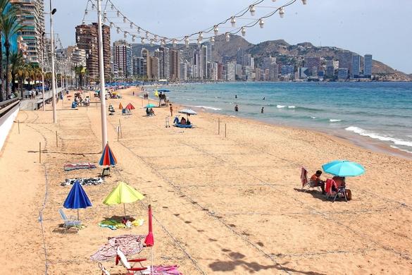 스페인 동부 지역의 한 해변 모습. /EPA/MORELL=연합뉴스
