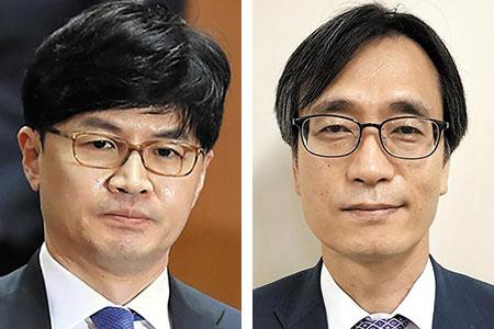 한동훈(왼쪽) 검사장과 정진웅 서울중앙지검 형사1부 부장검사