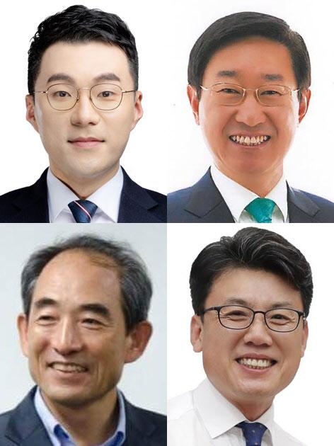 왼쪽 상단부터 시계방향으로 더불어민주당 김남국, 박범계, 진성준, 윤준병 의원/조선DB