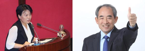미래통화당 윤희숙(왼쪽)의원과 더불어민주당 윤준병 의원/연합뉴스·윤준병 의원 페이스북