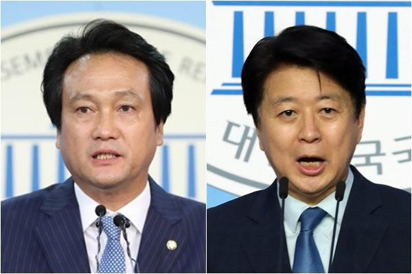 더불어민주당 5선 안민석(왼쪽) 의원과 4선 노웅래 의원./연합뉴스