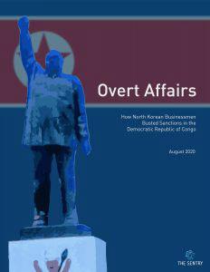 북한이 민주 콩고에서 영리사업을 통해 대북제재를 위반했다는 내용을 담은 보고서 표지/센트리