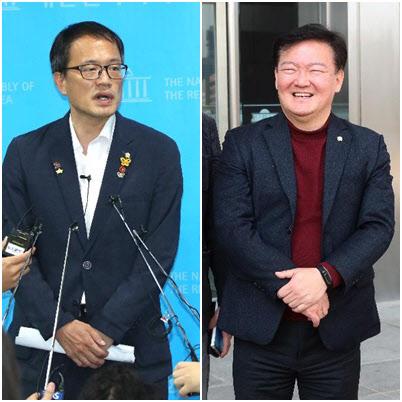 더불어민주당 박주민(왼쪽) 의원, 미래통합당 민경욱(오른쪽) 전 의원/조선DB