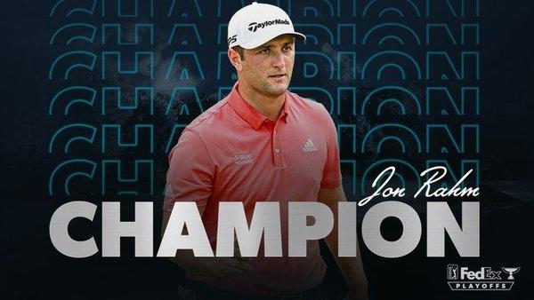 존 람이 PGA 투어 플레이오프 2차전인 BMW 챔피언십 정상에 오르며 통산 5승째를 달성했다./PGA 투어 트위터