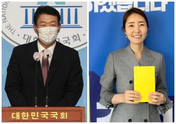 국민의힘 윤희석 대변인(왼쪽)과 더불어민주당 강선우 대변인. /연합뉴스, 강선우 페이스북