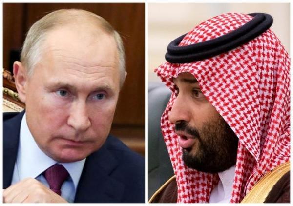 블라디미르 푸틴 러시아 대통령(왼쪽)과 무함마드 빈 살만 사우디아라비아 왕세자. /AP 연합뉴스