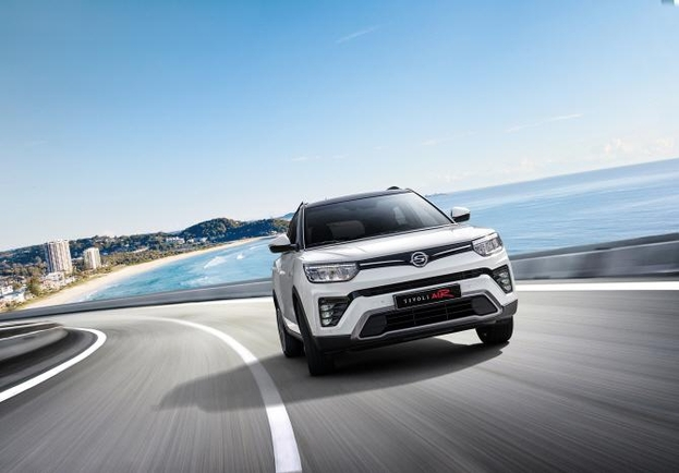 쌍용자동차가 지난 7일 출시한 소형 SUV 티볼리의 장축 모델 티볼리 에어. /쌍용자동차