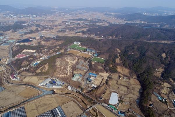 용인 SK하이닉스 차세대 반도체 공장 부지 전경. /박상훈 기자