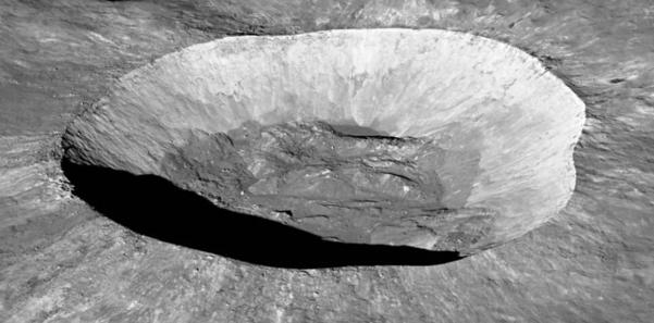 달에 있는 조르다노 브루노 분화구./NASA