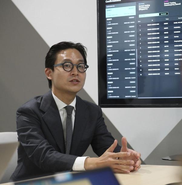 하재우 트루테크놀로지스 대표가 서울 공덕동 프론트원 건물에서 인터뷰를 하고 있다. /박상훈 기자