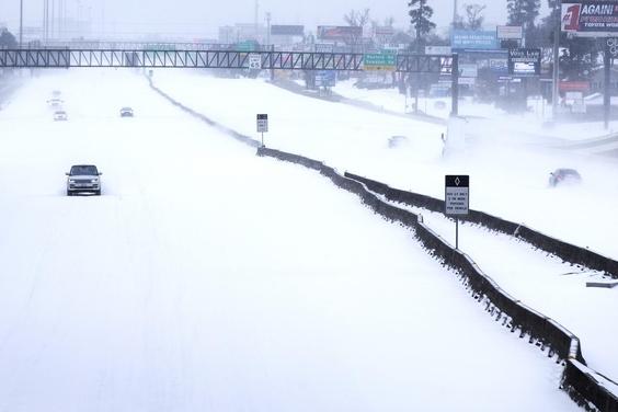 텍사스에 불어닥친 겨울 폭풍. /AP연합뉴스