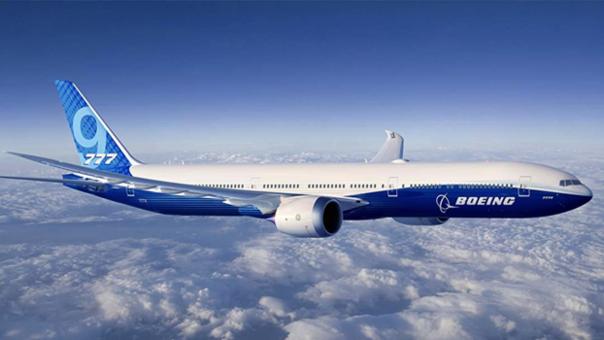 보잉 777 항공기의 비행 모습. /트위터 캡처