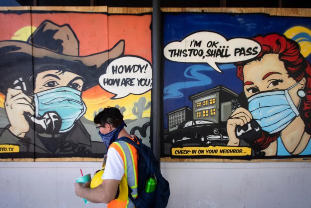 텍사스, 2 천 9 백만 명에게 마스크를 의무적으로 들어 올리다
