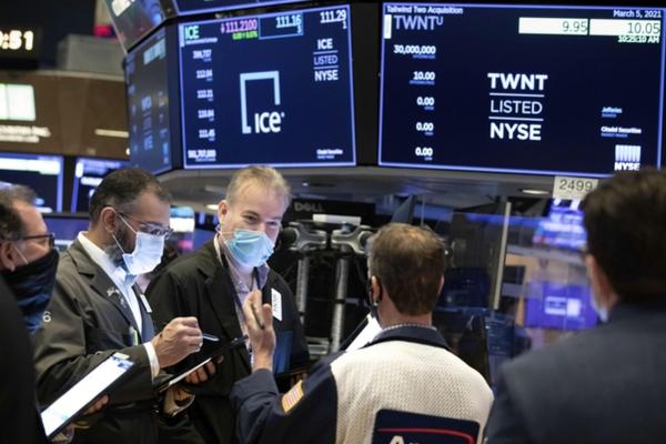 뉴욕 증시, 미국 국채 금리 급등 … 나스닥은 3 % 급락