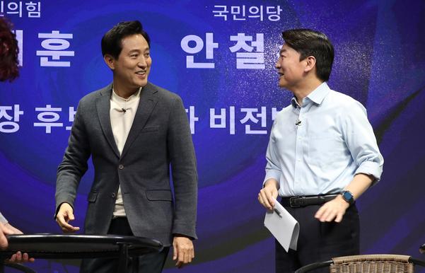 오세훈, 안철수 오늘의 통일 최종 토론 … 여론 조사 문구 등 이슈