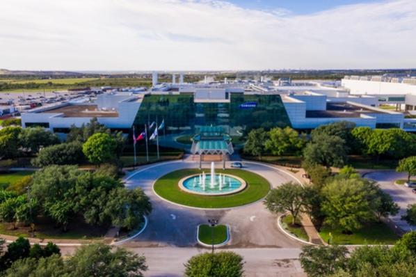 미국 텍사스주 오스틴에 있는 삼성전자 반도체 공장 전경.